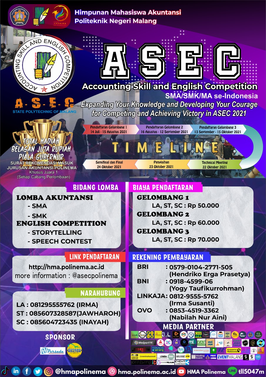 Accounting Skill and English Competition 2021