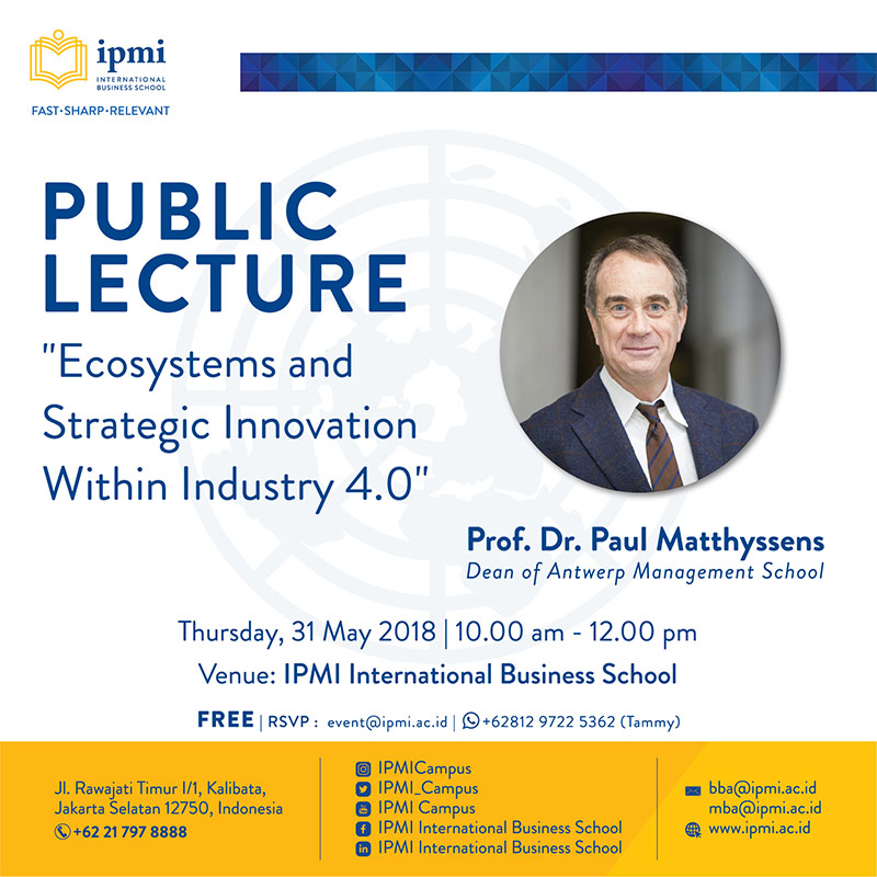 """Public Lecture """"Ecosystems and Strategic Innovation Within Industry 4.0"""""""