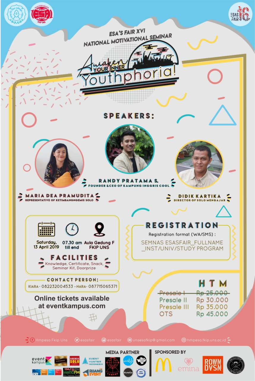 NATIONAL SEMINAR ESA'S FAIR XVI 2019 - Awaken Your Inner Youthphoria