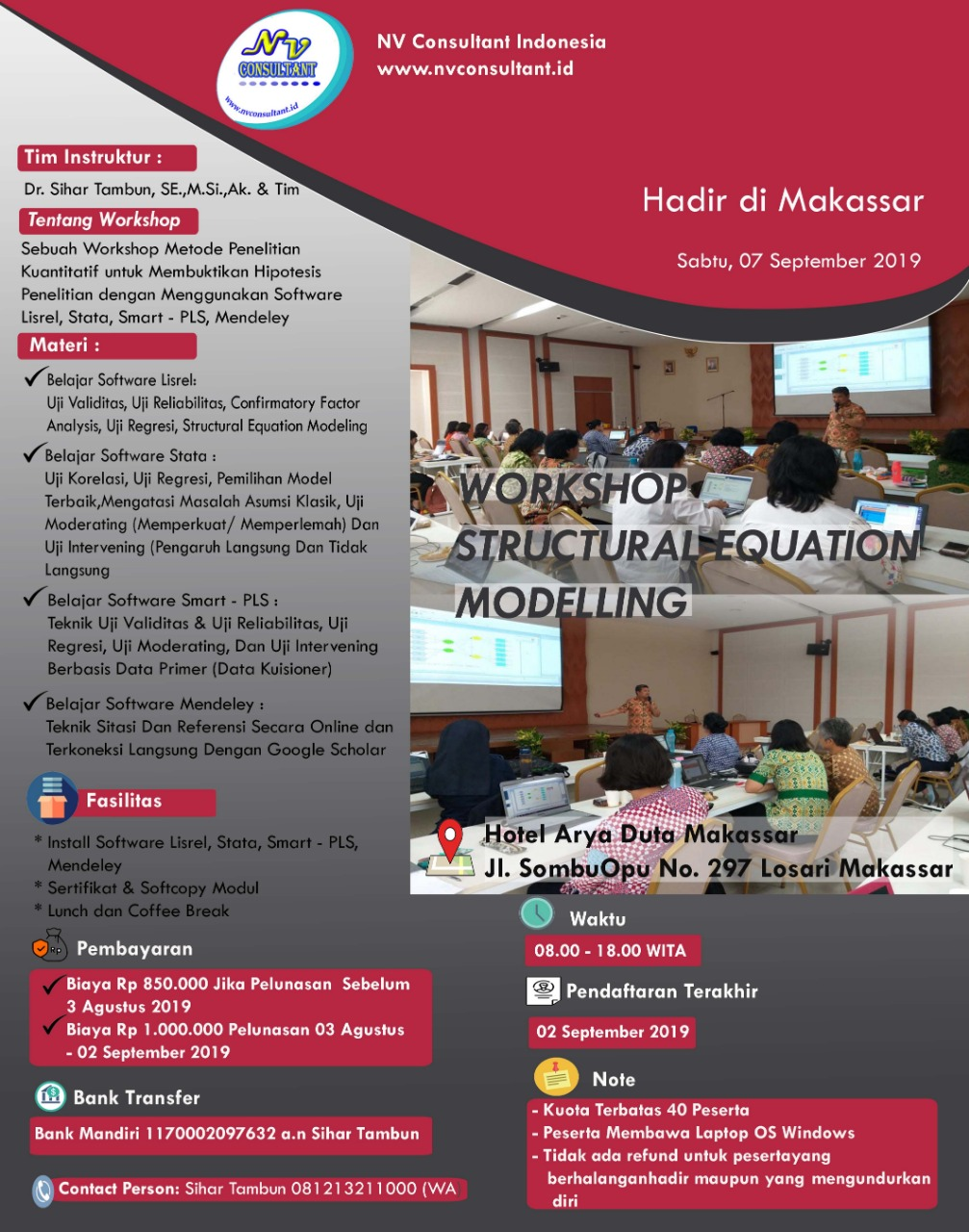 WORKSHOP STRUCTURAL EQUATION MODELLING - MAKASAR