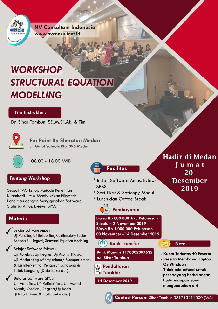 WORKSHOP STRUCTURAL EQUATION MODELLING - MEDAN 1