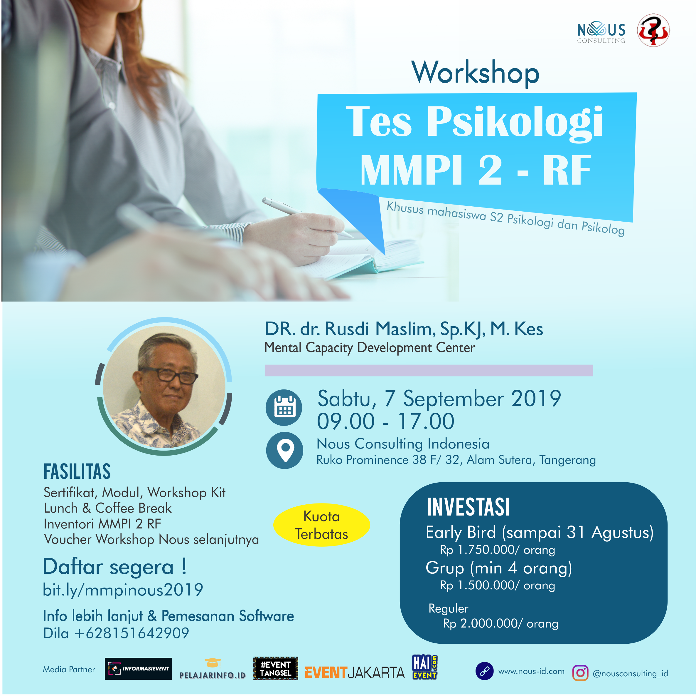 Workshop 2019 : Tes Psikologi MMPI 2 - RF