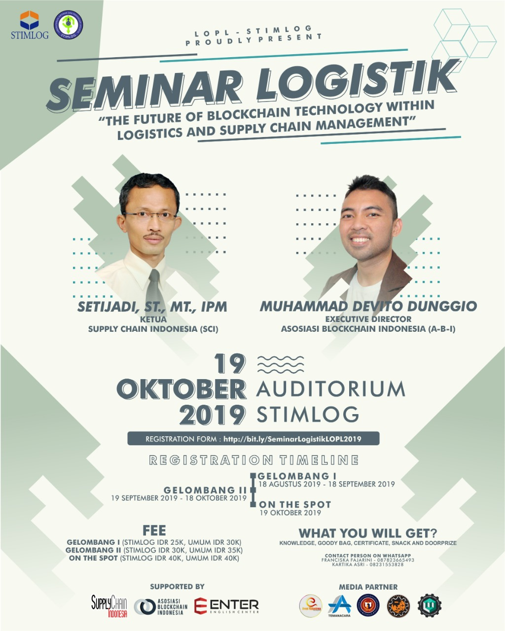 SEMINAR LOGISTIK LOPL - STIMLOG 2019: The Future of Blockchain Technology Within Logistics And Supply Chain Management