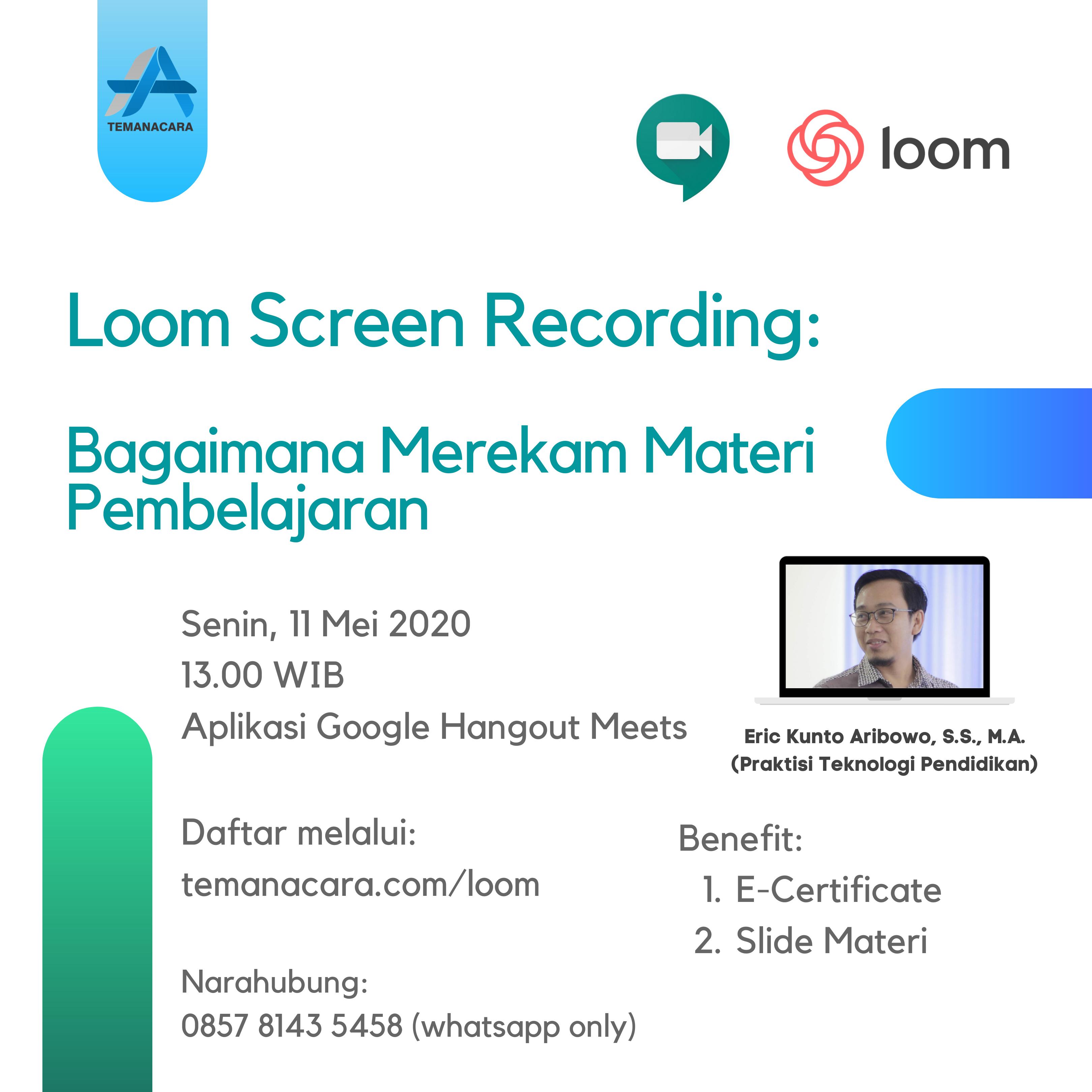 Loom Screen Recording: Bagaimana Merekam Materi Pembelajaran