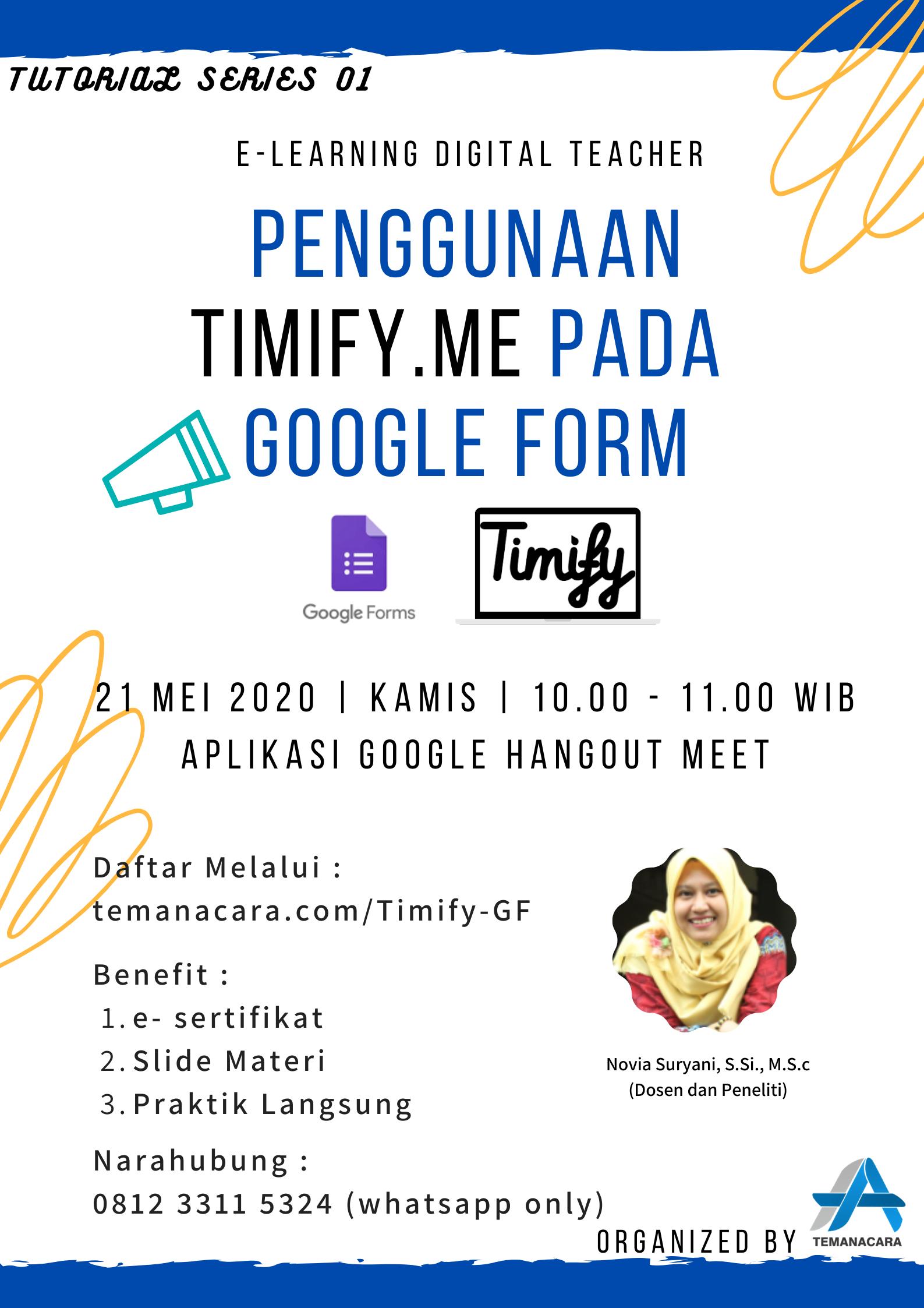 Penggunaan Timify.me Pada Google Form