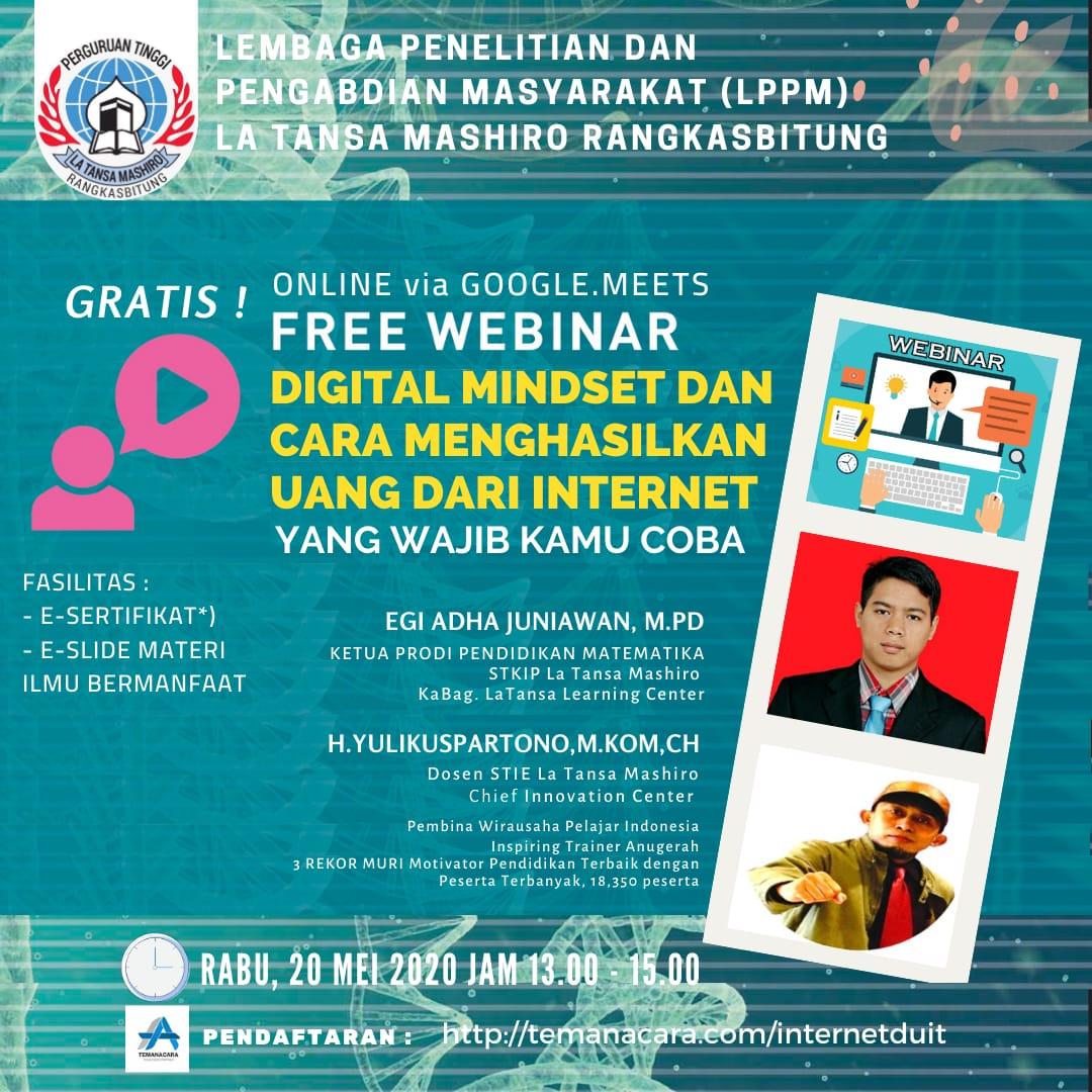 Digital Mindset & Cara Menghasilkan Uang dari Internet