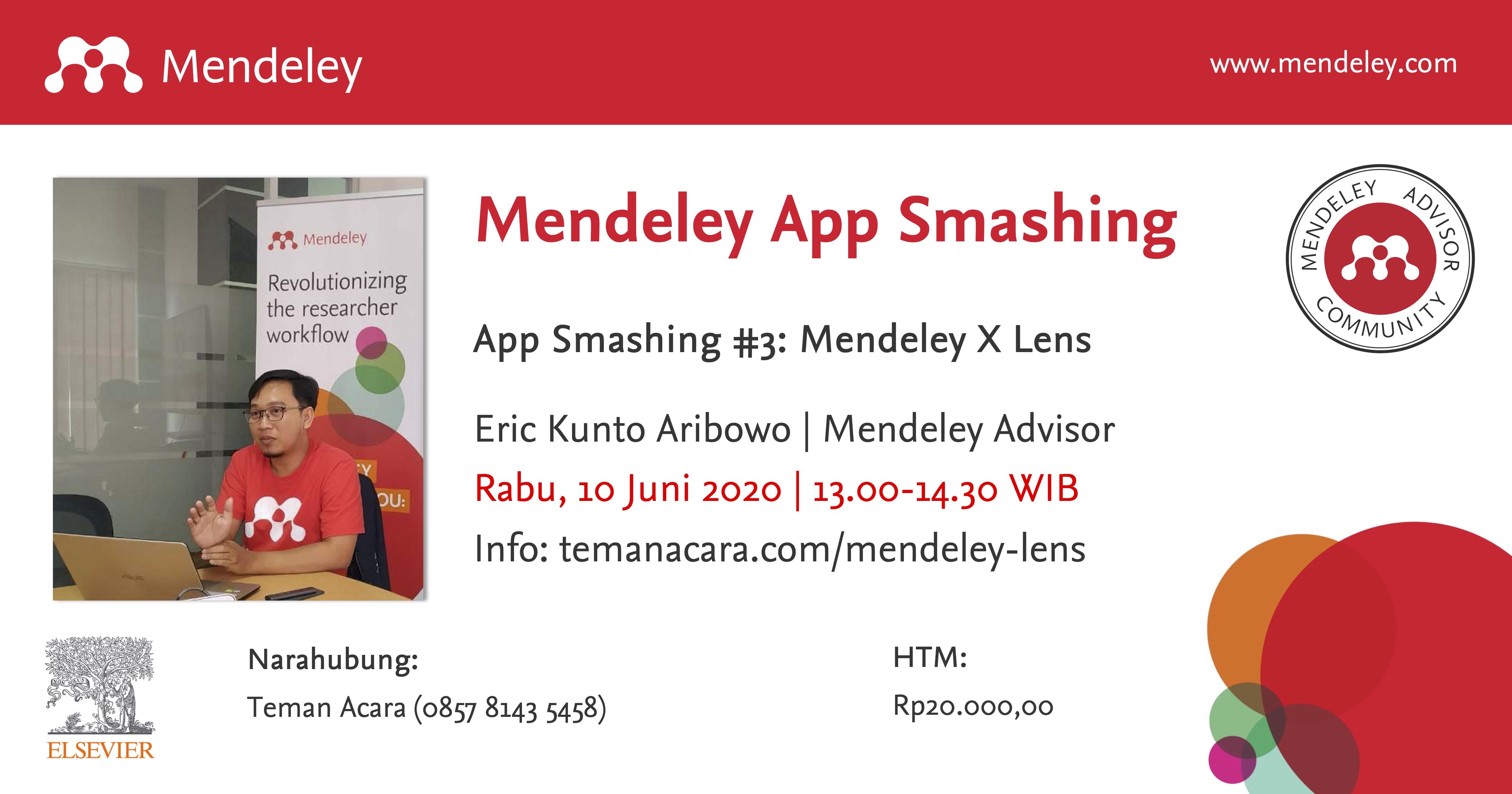 App Smashing #3: Mendeley X Lens