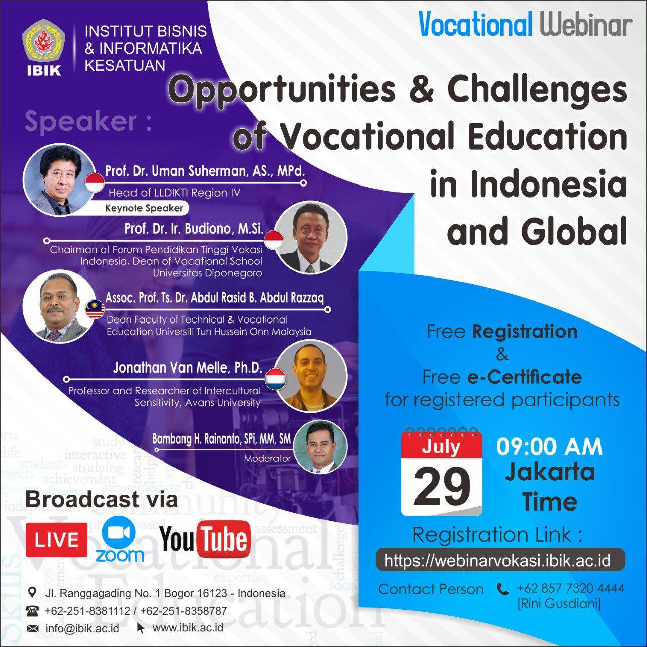Opportunities & Challenges Vocational Education In Indonesia and Global