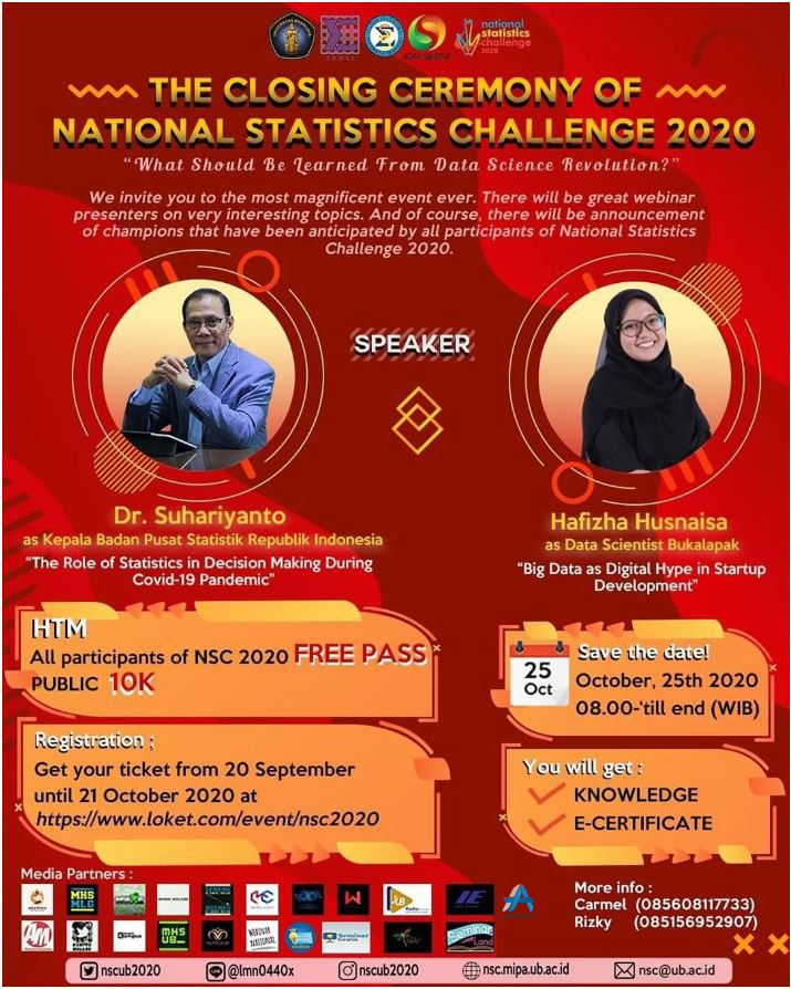 THE CLOSING CEREMONY OF NATIONAL STATISTICS CHALLENGE 2020