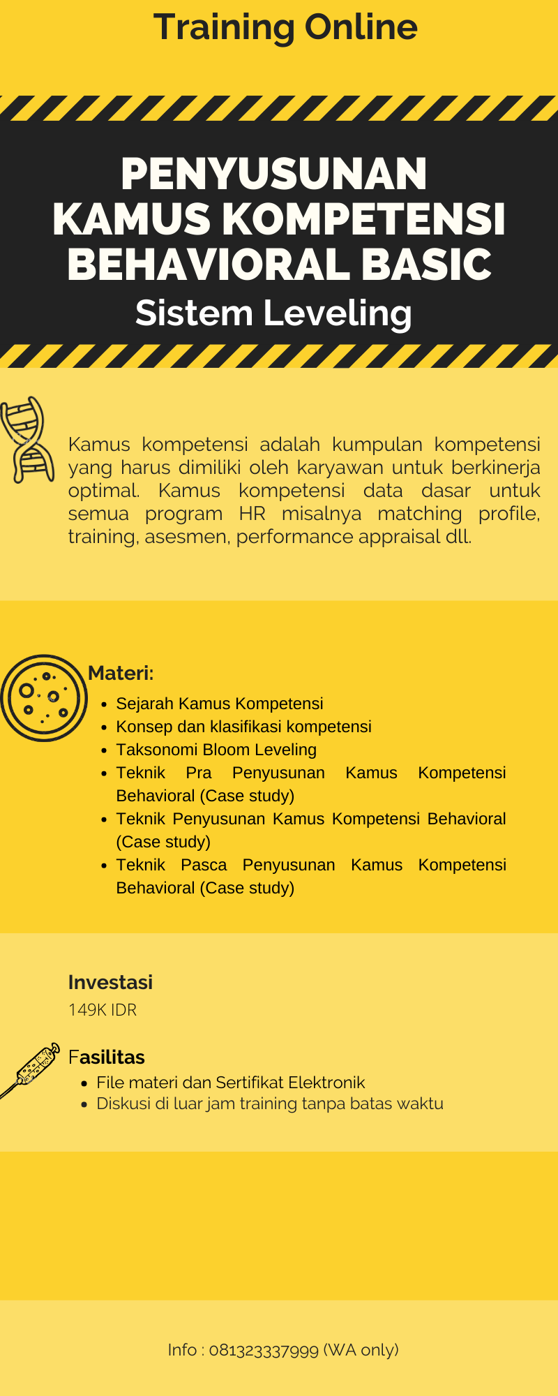 Training Online: Penyusunan Kamus Kompetensi Behavioral level Basic