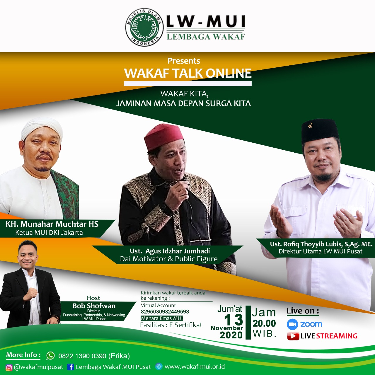 Wakaf Talk Online - Wakaf Kita, Jaminan Masa Depan Surga Kita