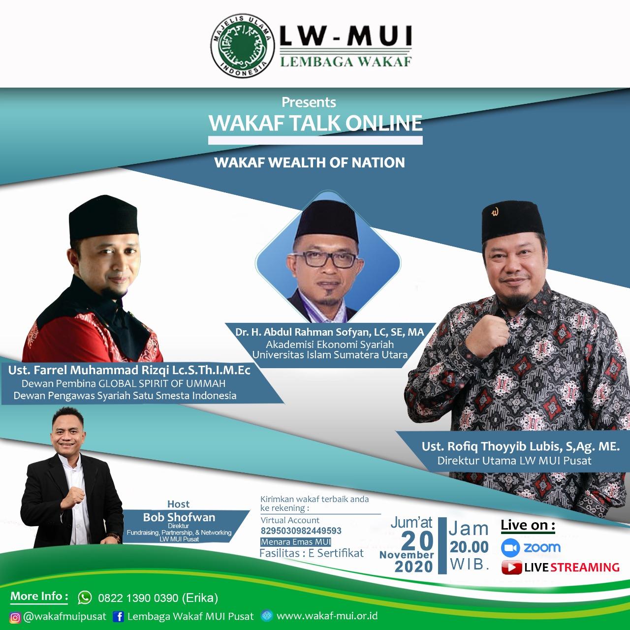 Wakaf merupakan bagian dari Kebijakan Fiskal yang diwariskan oleh Rasulullah SAW.