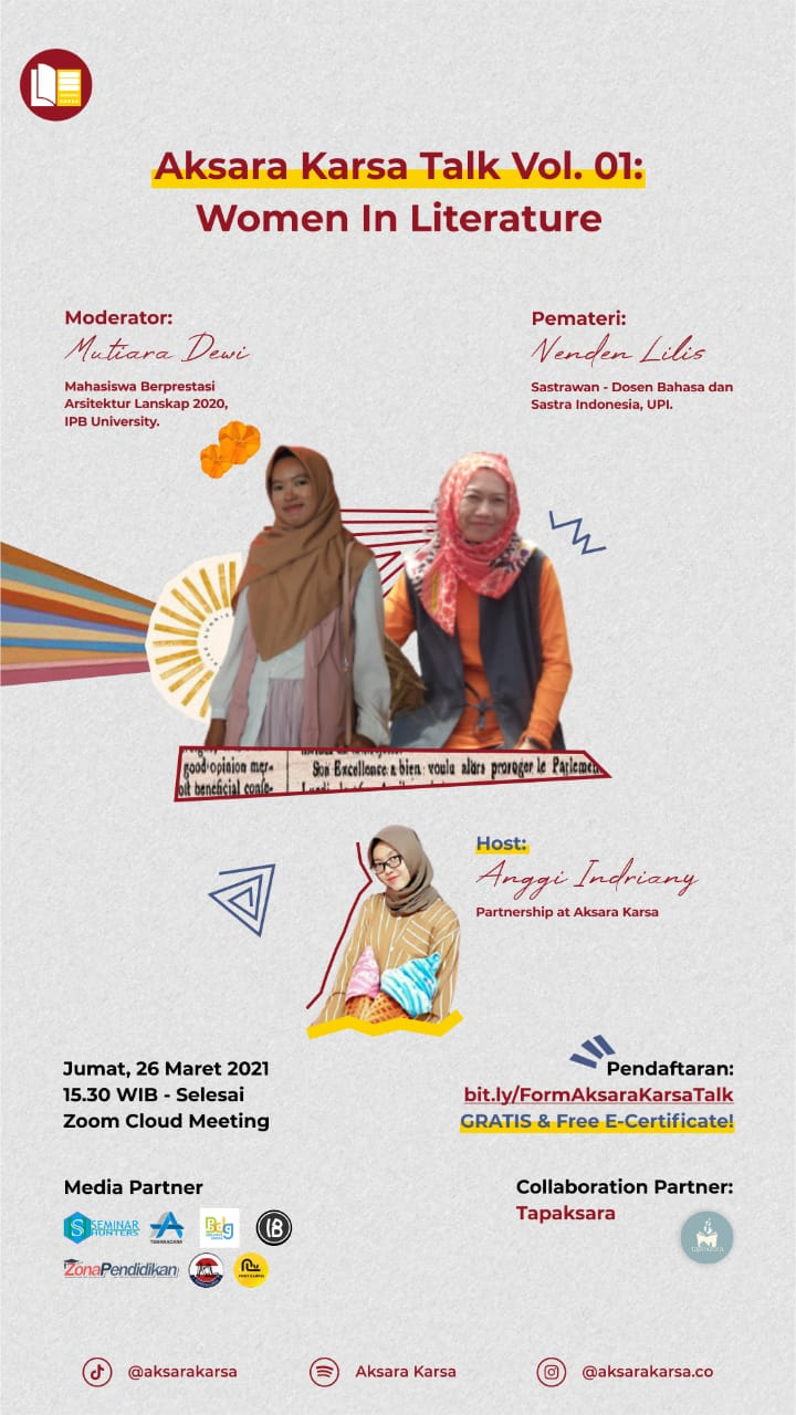 "AKSARA KARSA TALK VOL 01 ""WOMEN IN LITERATURE"""