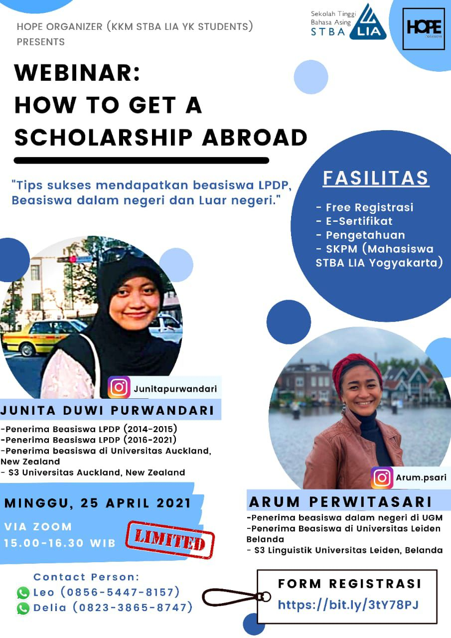 "WEBINAR ""HOW TO GET A SCHOLARSHIP ABOARD"