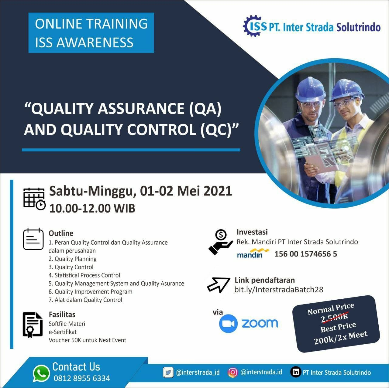 Quality Assurance and Quality Control Training