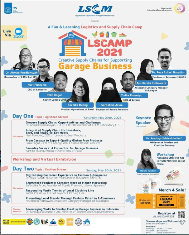 LSCAMP 2021: Creative Supply Chains for Supporting Garage Business