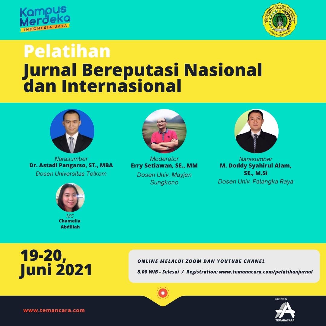 Pelatihan Jurnal Bereputasi Nasional dan Internasional