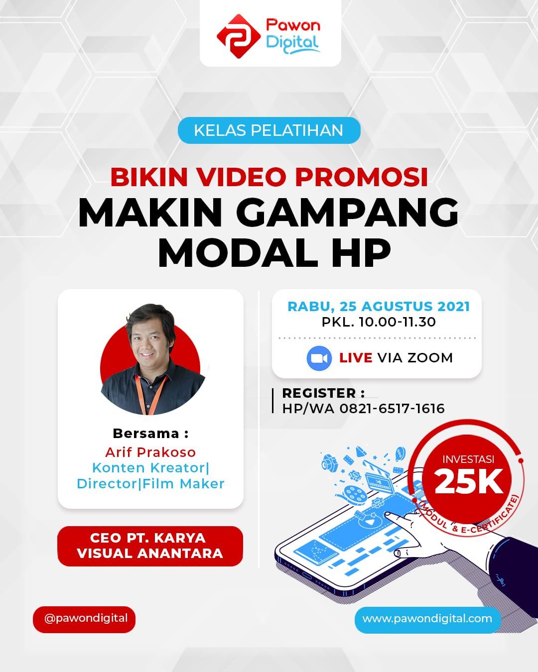 Bikin Video Promosi Makin Gampang Dengan HP