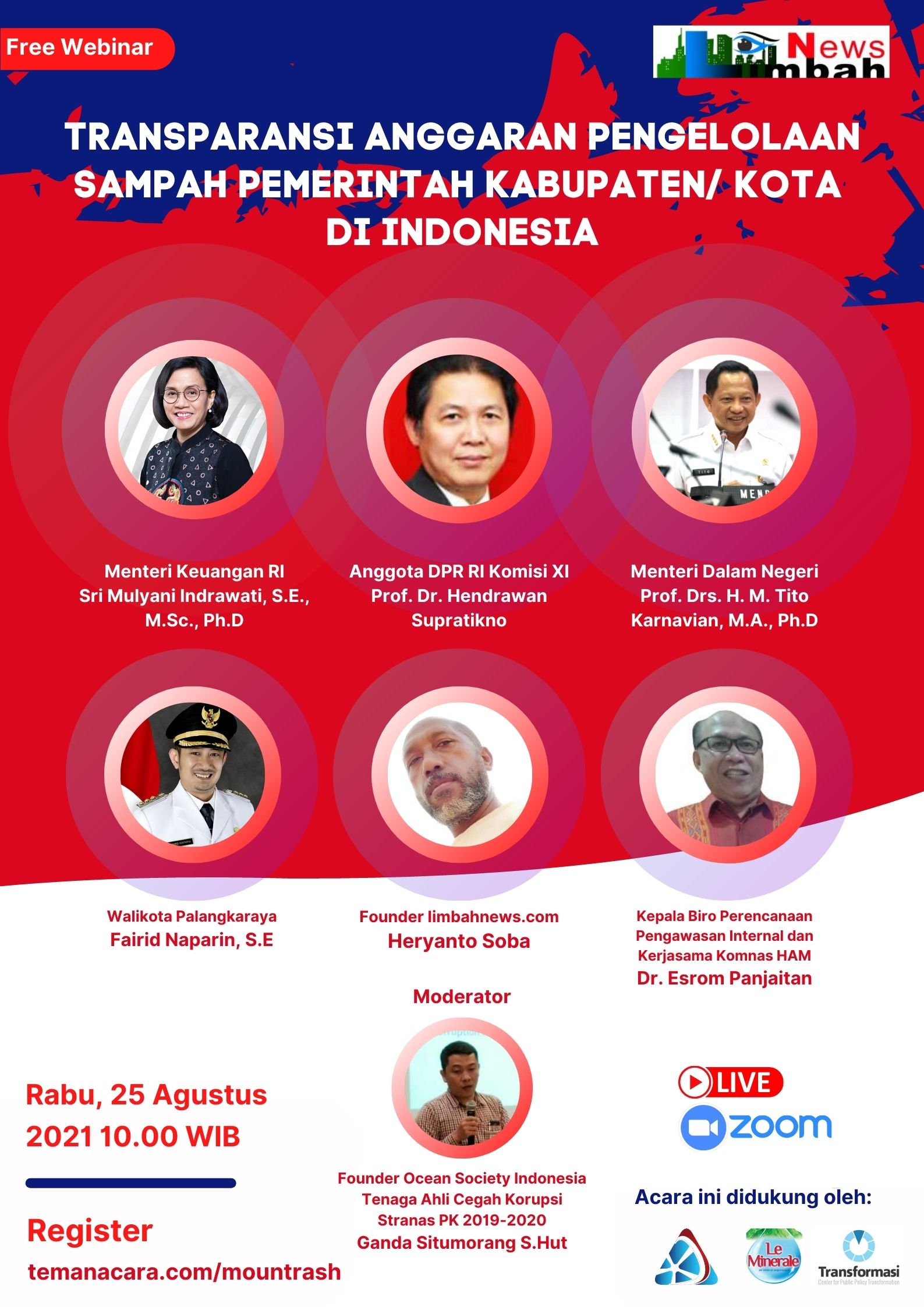 WEBINAR: TRANSPARANSI ANGGARAN PENGELOLAAN SAMPAH DI PEMERINTAH KABUPATEN/ KOTA DI INDONESIA