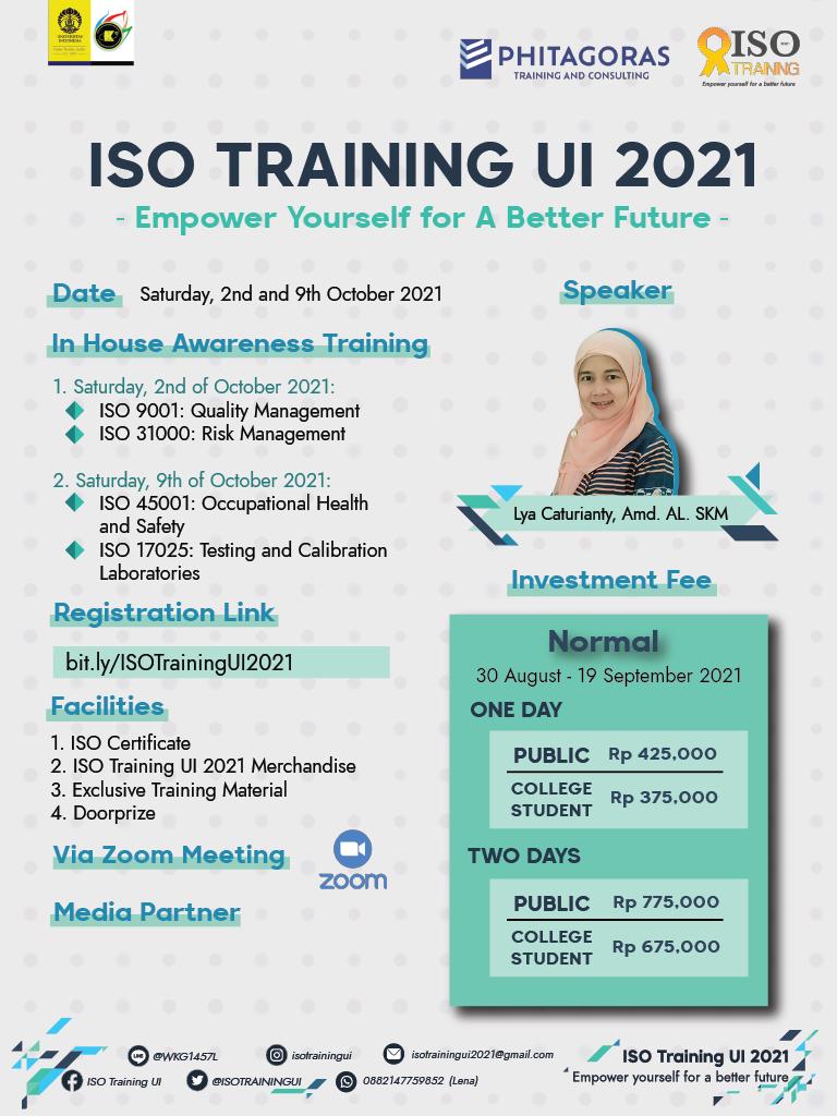 ISO Training UI 2021