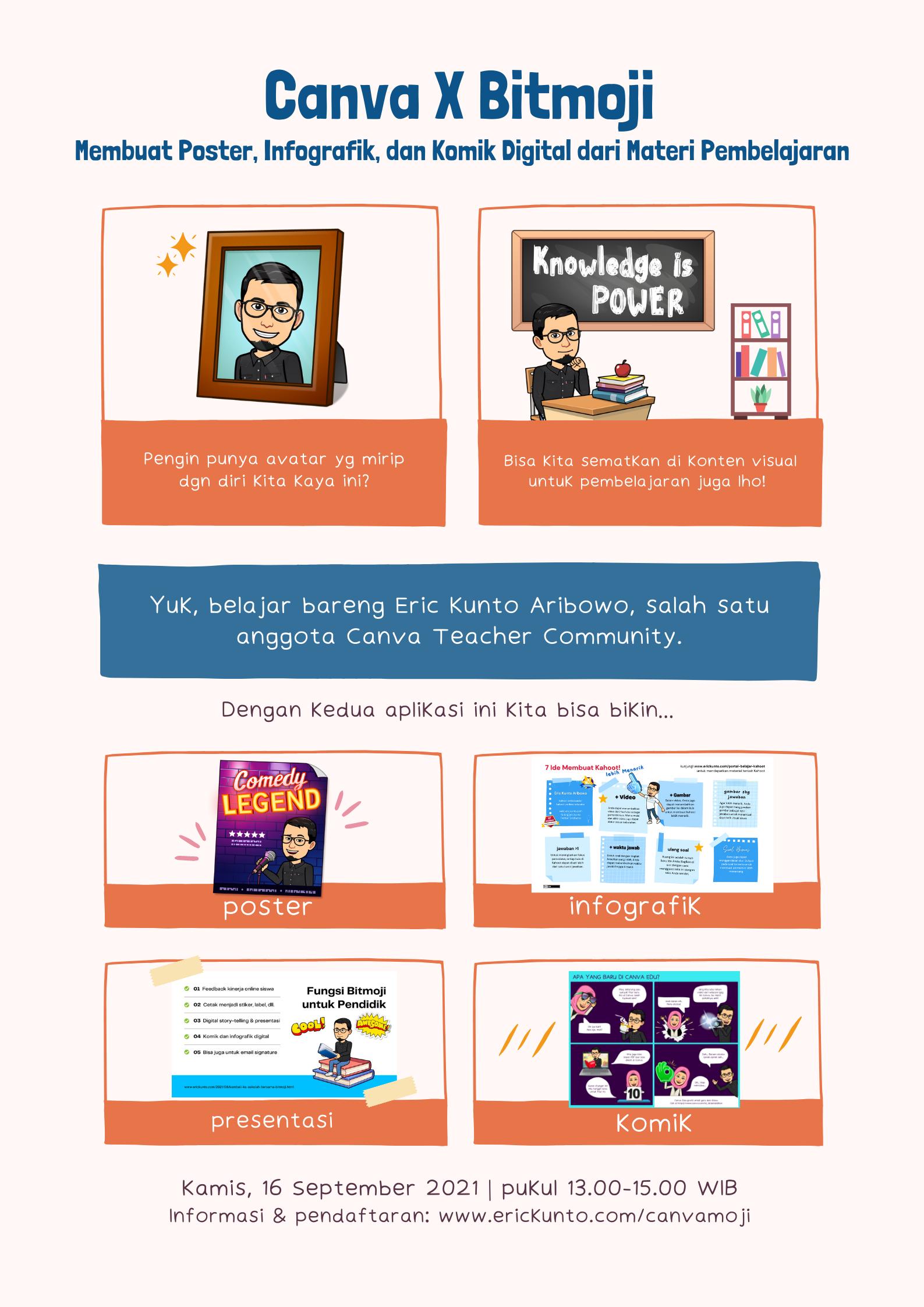 Canva X Bitmoji: Membuat Poster, Infografik, dan Komik Digital dari Materi Pembelajaran